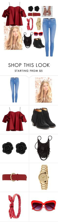 """""""rouge et noir"""" by sweetie-pie77 on Polyvore featuring Paige Denim, Anna October, Fiorentini + Baker, Dorothy Perkins, Gucci and Charlotte Russe"""