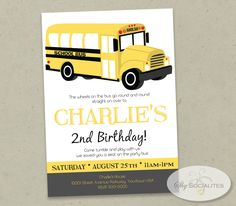 3c4a26155092 36 Best 2nd Birthday images in 2016   School buses, School bus party ...