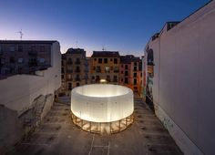 KOGAA's 'circo aéreo' is an inflatable, ring-shaped installation for empty urban spaces Shenzhen, Toulouse, Cabana, Built Environment, Contemporary Architecture, Pavilion, Empty, Facade, Studios