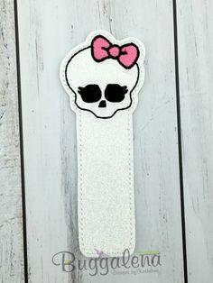 Scary School Skull Bookmark