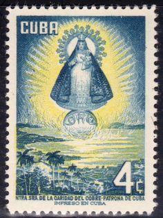 1956 Cuba Stamps Virgin of Charity La Caridad del Cobre MOG NEW
