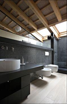 wood outdoor shower Living Well While Doing Good bathroom bathroom bathroom Bad Inspiration, Bathroom Inspiration, Attic Bathroom, Small Bathroom, Modern Bathroom, Master Bathroom, Cabana, Floor Design, House Design
