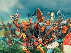 Viking charge.  Click on image to ENLARGE.
