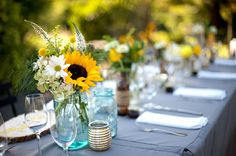 Gelbe Sonnenblumen Hochzeit Farbpaletten