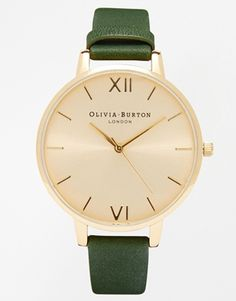 Enlarge Olivia Burton Big Dial Winter Garden Emerald Watch