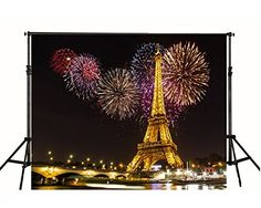 feet Colorful Fireworks Night Eiffel Tower Photography Backdrop no Crease Background Wedding Photo Background, Background For Photography, Photography Backdrops, Photo Backdrops, Scenic Photography, Birthday Background, Black Photography, Backdrop Ideas, Eiffel Tower Photography