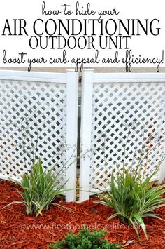 Covering up an AC unit outside will boost your curb appeal like you wouldn't believe, and it may even help the unit itself run more efficiently! #DIY #GARDENING