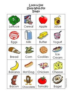 Looking for a Bingo Worksheets For Kids. We have Bingo Worksheets For Kids and the other about Emperor Kids it free. Bingo Cards, Printable Cards, Free Printables, Food Cards, Cue Cards, Picture Cards, Dramatic Play, Food Themes, Worksheets For Kids