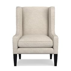 Taylor Chair, Down Blend, Antique Brass, Performance Crossweave, Solid, Malt