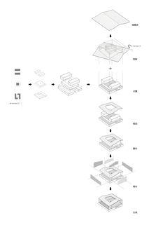 Image 21 of 35 from gallery of Fan Zeng Art Gallery / Original Design Studio. Art Gallery, Original Design, Isometric Design, Pixel, Design Studio, The Originals, Board Ideas, Drawings, Art