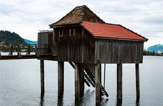 Bootshaus in Bregenz am Bodensee Gazebo, Outdoor Structures, Cabin, House Styles, Design, Boat, Houses, Google, Home Decor