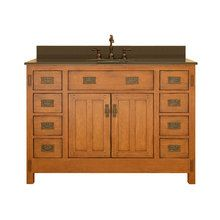 View the Sagehill Designs AC4821D 48 Oak Wood Vanity Cabinet with Two Doors from the American Craftsman Collection at Build.com.