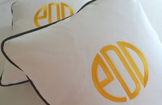Custom Embroidered Pillow With Your Monogram -