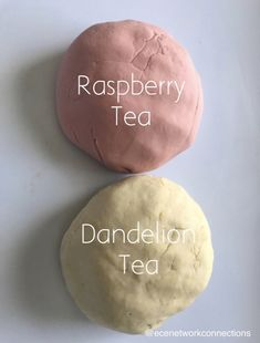 We made dandelion tea play dough.  Simply add 4 tea bags (tea of choice) to 2 cups of boiling water.  Take the tea bags out in 15 minutes.  Mix 2 cups flour, 1/2 cup salt, 1tbsp oil and 4 tbsp cream of tartar.  Then add the tea water.  Knead into dough.  Wonderful scent!  So calming.