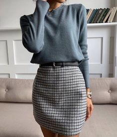 Mittyo Classic Blue Top Plaid Skirt Two Piece Dress Source by angelicameskhia casual outfits Mode Ootd, Inspiration Mode, Fashion Inspiration, Mode Vintage, Vintage Grunge, Vintage Vogue, Mode Outfits, Edgy Outfits, Summer Outfits