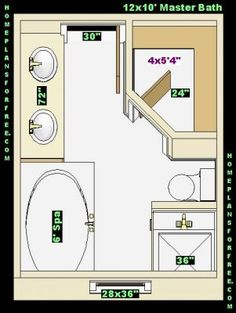 8X12 Bathroom Floor Plans, Bathroom Floor Plans 8 x 10 ...