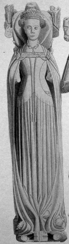Margaret de Stafford (1396) St. Mary's Church, Saintdrop, Durham, England UK