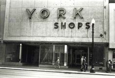 York Shops, 1981, Hammond Indiana, one of the stores I used to shop at
