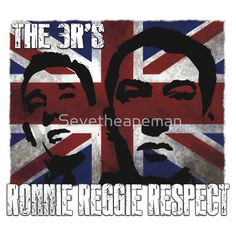 Cool Union Jack T shirts, The Kray twins #Ronnie #reggie #respect #gangster #England #cockney #east end #London #union jack #Britain