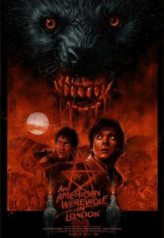 """That way is Proctor, and over here is the moors."" An American Werewolf in London fan poster should stick to the road Horror Icons, Horror Movie Posters, Movie Poster Art, New Poster, Lost Poster, American Werewolf In London, Werewolf Art, Horror Artwork, Classic Horror Movies"
