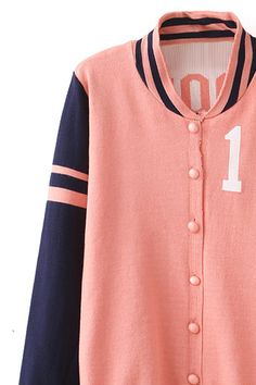 Striped Color Block Casual Jacket