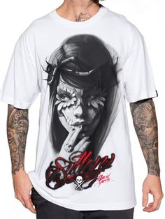 "Men's ""Catrina"" Tee by Sullen Clothing (White) #InkedShop #Sullen #graphcitee…"
