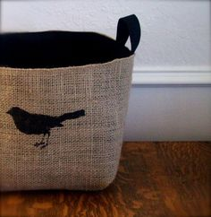Put A Bird On It!  :: X-Large Coffee Bird Basket