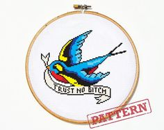 Hey, I found this really awesome Etsy listing at https://www.etsy.com/listing/176026299/little-bird-tattoo-cross-stitch-pattern