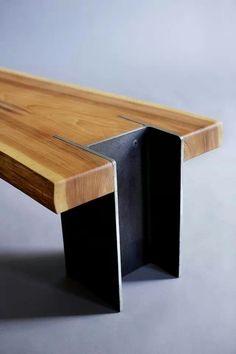 Cedar I beam table