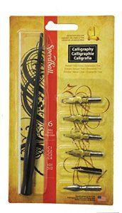 Amazon.com: Speedball 6-Nib Calligraphy Lettering Set: Calligraphy Pens: Posters & Prints