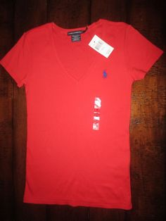 6d387cc560 Basic Tee Regular Solid 100% Cotton M T-Shirts for Women | eBay. Polo Ralph  Lauren