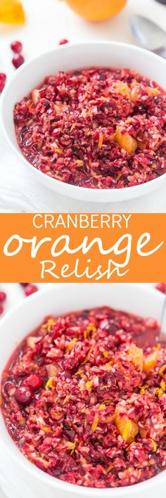 This sweet, but tart Cranberry Orange Relish Recipe is so easy and perfect for the holidays! Take a break from your traditionally served cranberry sauce and make this fresh relish instead.   via /galmission/