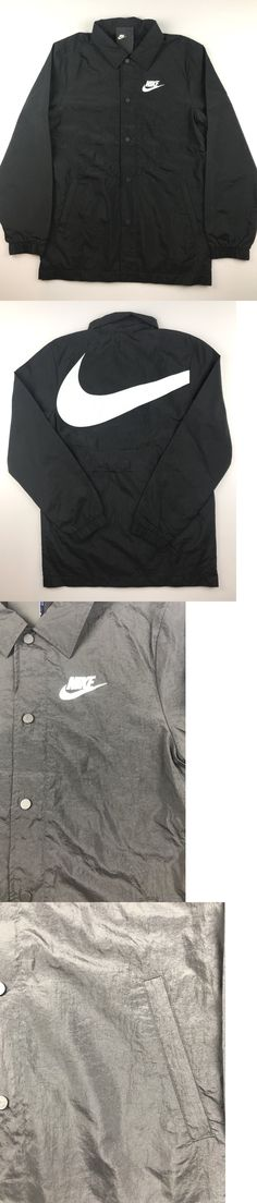 02d5b3ad603b Activewear Jackets 185702  Nike Nsw Sportswear Mens Medium Black White Tech  Varsity Woven Hybrid Jacket