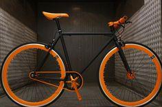 Fixie Single Speed Black and Orange