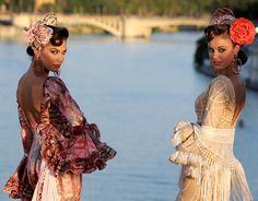 Flamenco Dresses From Spain | Models present flamenco dresses during the Moda de Sevilla fashion ...