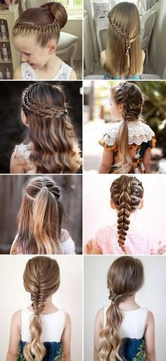 Girl Hairstyles Little Girl Hairstyle French Braid Pony Tail Curls High Pony