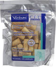 Virbac C.E.T. Oral Hygiene Fish Flavor Cat Chews, Fish, 30 count