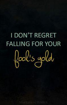fool's gold - tumblr lyrics