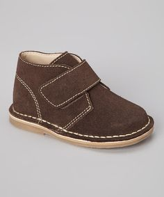 Take a look at this Brown Suede Shoe by Baby Deer on #zulily today!