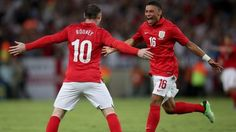 The Ox celebrating his goal against Brazil. I swear he's my new favourite England player