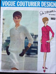 Vintage Vogue Couturier Design pattern 1953 Jo Mattli of