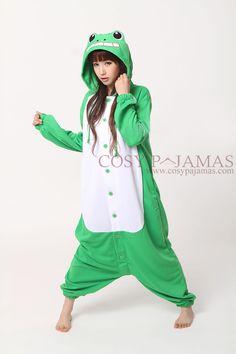 Frog Animal Adult Onesie Kigurumi-Polyester Mesh