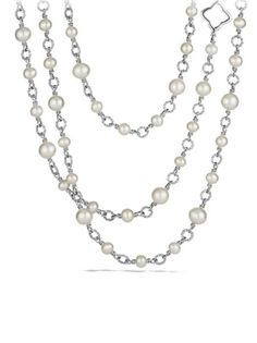 David Yurman - Chain Necklace with Pearls