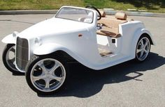 I could see myself cruising in one of these in 40 years!  customized-vintage-golf-cart