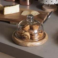 Serve it up in style! This holiday season, be the host with the most. Dinner guests will be impressed with your pies and tarts stacked up on these serving plates. Dessert never looked so good! Kitchen Jars, Kitchen Items, Kitchen Dining, Kitchen Decor, Cake Stand With Dome, Cupcake Stands, Catering Food Displays, Cake Baking Pans, Baking Supplies