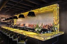 Belle & James Backlit Honey Onyx Bar