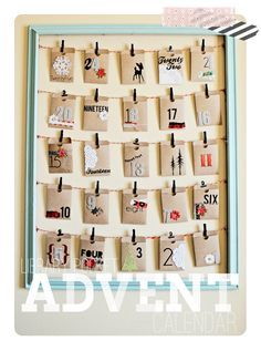 Advent Calendar - my mum handmade an advent calendar for us and I always wanted to make one for my kids.