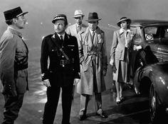 "Unknown, Claude Rains, Paul Henreid, Humphrey Bogart, Ingrid Bergman in Casablanca 1942....""Louis, I do believe this is the beginning of a beautiful friendship."""
