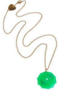 Cocktail Umbrella Green Pendant