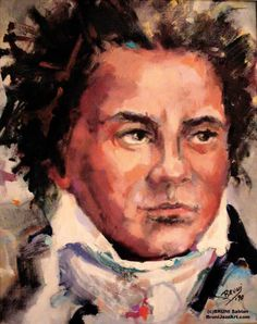 """""""Ludwig van Beethoven"""" by BRUNI 18""""x24"""" oil on canvas SOLD: FOR REPRODUCTIONS CALL 408-298-4700"""